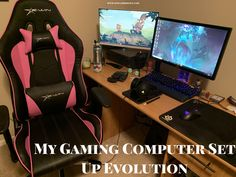 My Gaming Computer Set Up Evolution - YesGamersLift Video Game Music, Video Game Rooms, Video Games Funny, Tommy Bahama Beach Chair, Best Mouse, Computer Set, Mid Century Modern Armchair, Farmhouse Dining Chairs, Used Chairs
