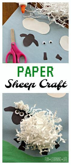 Paper Sheep Craft Inspired by Shaun the Sheep: Animal Antics DVD! (Sponsored)