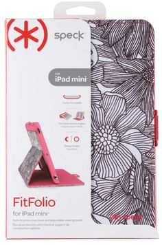 New Speck iPad Mini 1 2 3 Fresh Bloom Coral Pink FitFolio Flip Cover Case Stand #Speck