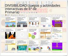 22 Juegos, actividades y materiales para el estudio de LA DIVISIBILIDAD en 6º de Primaria Maths Area, Interactive Activities, Teaching Resources, Learning