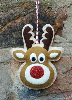 Hey, I found this really awesome Etsy listing at https://www.etsy.com/listing/250767567/handmade-felt-rudolph-reindeer-ornament