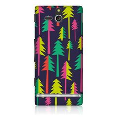 e_cell - Head Case Xmas Tree Hippie Xmas Design Back Case for Sony Xperia U ST25i