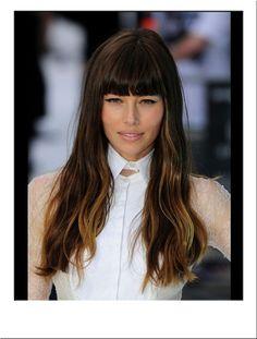 Jessica Biel Fashion Wig #Long #Brown #Blonde #Highlighted #Hair #Wavy #Hairstyle #Hair