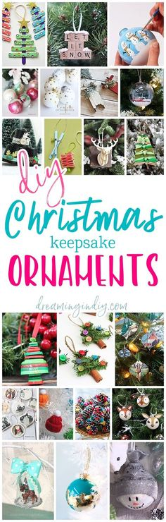 The Best DIY Christmas Tree Ornaments to Make - Easy Handmade Holiday Keepsakes for Kids and Adults via Dreaming in DIY #diychristmasornaments #diyornaments #keepsakeornaments #handmadeornaments #christmascrafts #christmasornaments