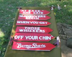 -Burma Shave signs