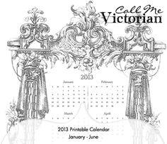 2017 Free Printable Paris Calendar from CallMeVictorian