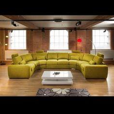 Massive Modern High Quality U Shape Sofa / Corner Group Green 25