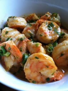 Thai Coconut Curry Shrimp - we made this tonight - really tasty!! Added onion and snow peas and used light coconut milk. Yummm. Reminded me of Thailand...