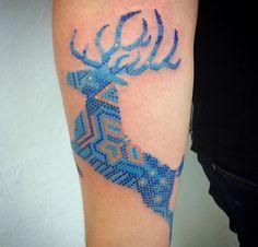Tatuaje Ojo De Dios Huichol Sfb