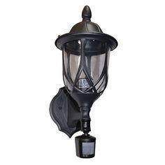 eTopLighting Vogue Collection Oil Rubbed Matt Black Finish Exterior Outdoor Wall Lantern Light w/ Motion Sensor APL1130