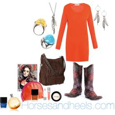 Orange Inspired, created by horsesandheels on Polyvore