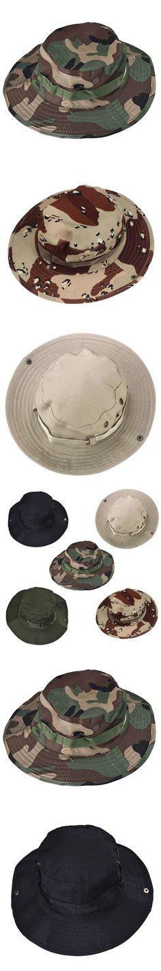 6c18c17e8ec New Adjustable Adult Bucket Hat Outdoor Fishing Wide Cap Army Green Black  Khaki Color 2017