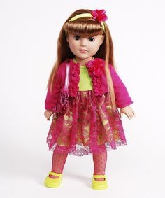 Take a look at this Strawberry Blonde-Haired Ruffle Jacket Doll by Dollie & Me on #zulily today!
