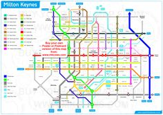 A fabulous new design for the MK grid system map - based on London Underground map design!