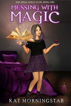 A Magical Girl Witch Middle Grade Fantasy Premade Ebook Cover Book Cover Art, Book Art, Premade Book Covers, Ebook Cover, Design Studios, Girls Club, Magical Girl, Witch, 3d