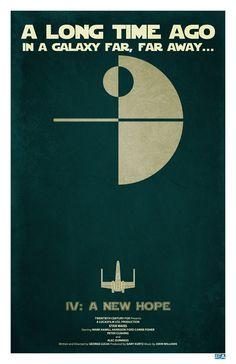 Minimalistic Retro Star Wars Posters