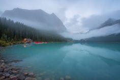 Crisp morning at Lake Louise in Banff National Park