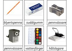 montessorimaterial Swedish Quotes, Learn Swedish, Swedish Language, Speech Therapy, School Supplies, Montessori, Back To School, Kindergarten, Preschool
