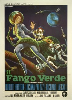 "Original Vintage sci-fi italian movie poster for the ""Il Fango Verde"" aka ""Green Slime"" 1969"