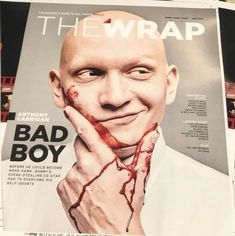 Anthony Carrigan by Shayan Asgharnia. Anthony Carrigan, Gotham Cast, Victor Zsasz, Christians, Bad Boys, Joker, It Cast, Celebrities, Heart