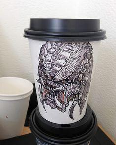 16 Copos ilustrados e criativos de Café por Miguel Cardona   Criatives   Blog Design, Inspirações, Tutoriais, Web Design