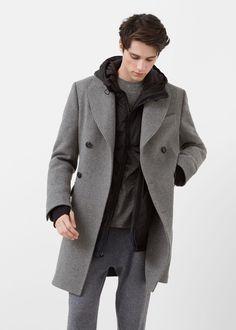 Abrigo largo tailored lana - Abrigos de Hombre | MANGO Man España