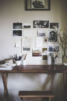 Simple Work Desk And Workspace Design Decoration Ideas 75 image is part of 135 Simple Work Desk and Workspace Design and Decor Ideas gallery, you can read and see another amazing image 135 Simple Work Desk and Workspace Design and Decor Ideas on website Decoration Inspiration, Workspace Inspiration, Interior Inspiration, Decor Ideas, Inspiration Wall, Writing Inspiration, Dark Wood Desk, Wooden Desk, Workspace Design