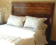 Pallet Headboard - We don't have a headboard, and this would match our dresser & nightstands!