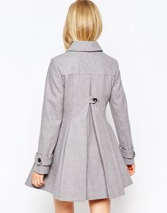 Image 2 ofASOS Dolly Skater Coat With Pleat Detail