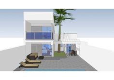 #Casas #Moderno #Exterior #Jardin #Terraza #Dibujos #Muebles de exterior #Fachada #Vidrio #Maquetas
