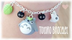 DIY Totoro Bracelet from Polymer Clay Kawaii Tutorial