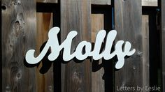 1 Piece Connected Letters, Wooden name sign, Nursery Name Signs. Wooden Nursery Wall Letters and Names Decor. by LettersbyLeslie on Etsy