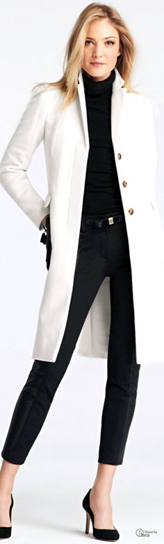 White winter coat outfits