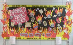 Banned book week library display