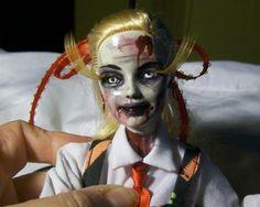 Teacher Student Zombie Doll OOAK Horror Barbie Halloween Custom Custom Art Goth | eBay