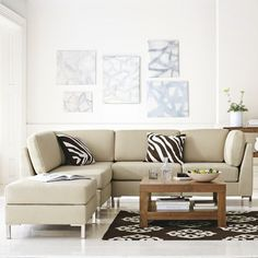 Ok so our landlordu0027s ugly couch is basically shaped like this. If we can get solid colored covers made it will make a huge difference. : west elm armless sectional - Sectionals, Sofas & Couches
