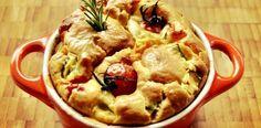 Torta de abobrinha e tomates romanita