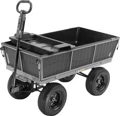 Dumping Yard Cart — x Capacity, Model# I want this wagon. for both yard use AND for my kiddo. Garden Shop, Lawn And Garden, Garden Tools, Yard Cart, Garden Wagon, Pull Wagon, Landscaping Tools, Decking Material, Utility Cart
