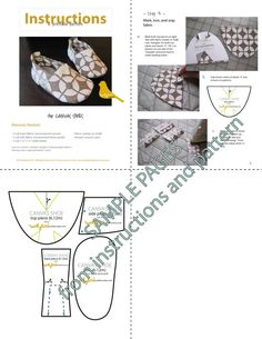 Canvas Shoe PDF INSTANT DOWNLOAD Sewing por twirlybirdpatterns