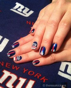 Good idea for team nails painting the ring finger with the team show your team spirit with these football nail art designs prinsesfo Gallery
