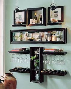 Monte um minibar na sua casa aproveitando os móveis que você já tem! Dicas de como fazer e o que usar!