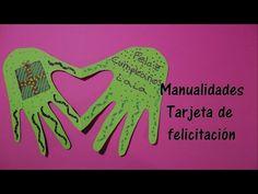 Manualidades: Tarjeta felicitación manos y corazón - El Mundo de Inma