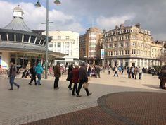 Bournemouth Square in Bournemouth, Bournemouth. We visited in 1998 In 2015, Bournemouth, Xmas Ideas, Far Away, Buses, Over The Years, Four Square, Places Ive Been, United Kingdom