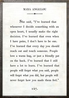 "2' x 3' Book Collection Art Print. White Background Reclaimed Wood Frame Quote: She said, ""I've learned that whenever I decide something with an open heart, I usually make the right decision. I've lea"