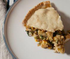 veggie pot pie with thai green curry... Wonder if I can find gluten free pie crust?