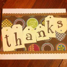 For kids who can't write yet, stamp the letters and let them glue them into place to make a thank you card.