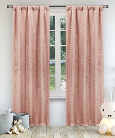 This Pretty Pink Danielle Blackout Curtain Panel - Set of Two is perfect! #zulilyfinds