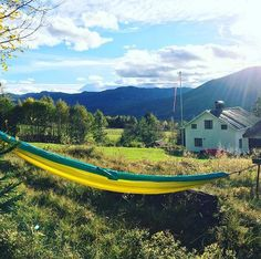 """""""Broad, wholesome, charitable views of men and things cannot be acquired by vegetating in one little corner of the earth all of one's lifetime."""" – Mark Twain #hammock#favoriteplace"""