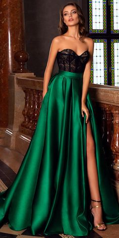 green party dress strapless evening dress lace long prom dress satin b – shuiruyan Source by Dresses Elegant, Satin Dresses, Pretty Dresses, Sexy Dresses, Strapless Dress Formal, Beautiful Dresses, Lace Dress, Prom Dresses, Formal Dresses