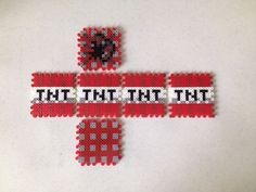How to make a # # from # 4 – minecraft Hamma Beads 3d, Hamma Beads Ideas, Fuse Beads, Pearler Beads, Seed Beads, Hama Beads Minecraft, Diy Perler Beads, Tnt Minecraft, Minecraft Blocks